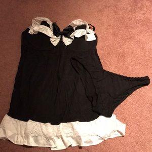 NWOT Victoria's Secret Tuxedo Nightie and Panty